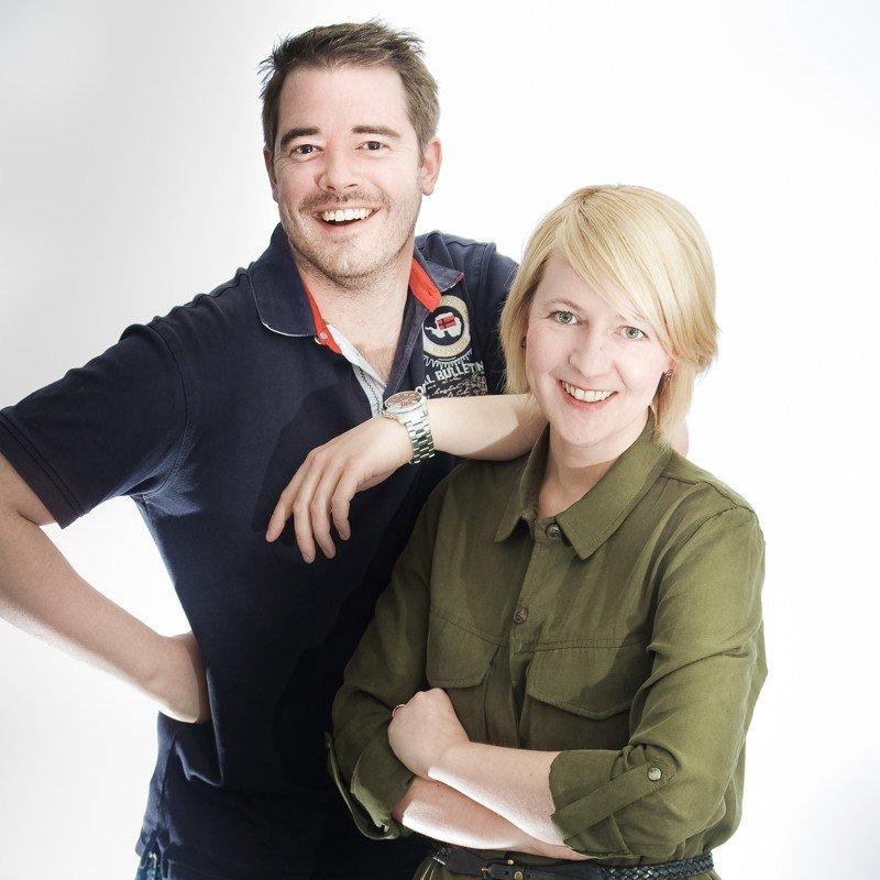 Oliver Harbring und Anja Brukner (Bild: ANTENNE MÜNSTER)