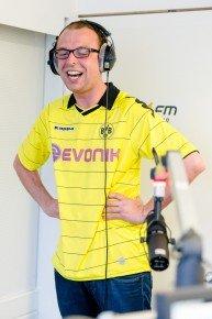 Torschrei-Weltrekord im SPORT1.fm-Studio mit Christian Kinner (Bild: sport1.fm)