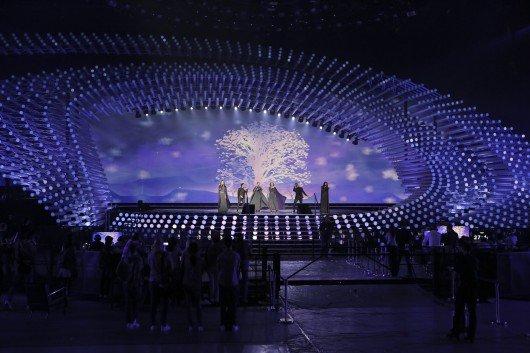 Die ersten Proben auf der Bühne des Eurovision Song Contest 2015 in Wien. Foto: Thomas Hanses (EBU)
