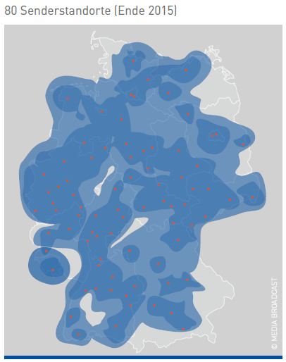 DAB+ Planungskarte Ende 2015