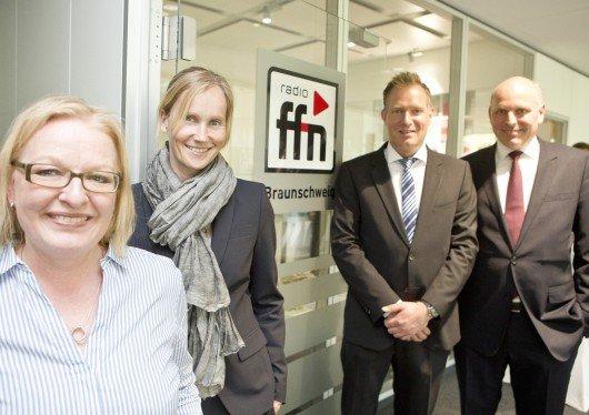 ffn Regionalstudio Braunschweig: Manuela Bluhm, Ina Tenz, Jan Quitmeyer, Harald Gehrung (Foto : Jörg Scheibe)