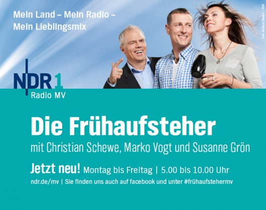 Plakatmotiv: Frühaufsteher von NDR 1 MV