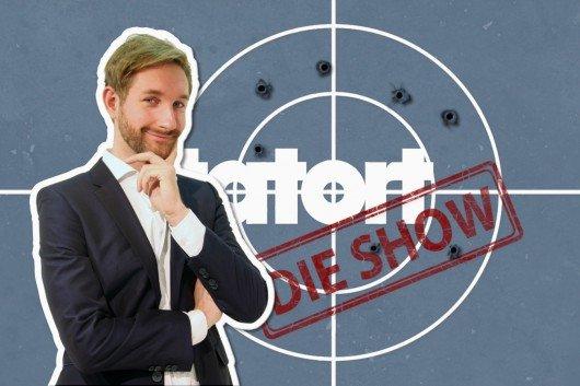 "Daniel Boschmann moderiert am 17. Mai um 21.45 Uhr ""Tatort - Die Show"". Bild: HR"