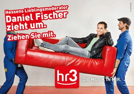 Crossmediale Kampagne für Daniel Fischers Umzug von FFH zu hr3