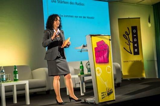 Yvonne Malak auf dem Radio Research Day (Bild: ©Cityfoto)