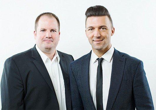 (Programmchef Dirk Klee links, Geschäftsführer Mario Mally rechts)