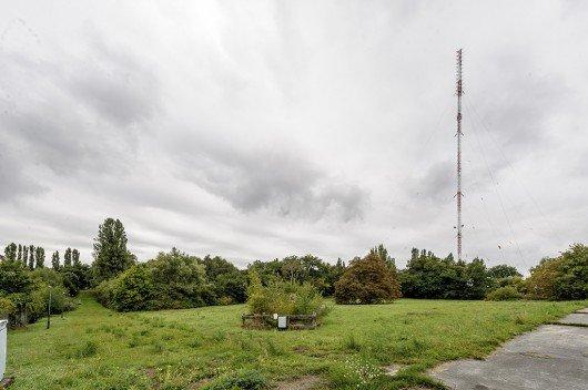 Der ehemalige Deutschlandradio-Sendemast in Berlin-Britz wurde im Sommer 2015 abgerissen. Foto: Deutschlandradio