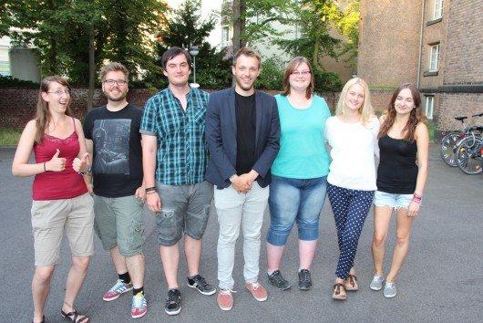 v.l.n.r.: Katharina Weber, Julian Neitzert, Thomas Frerix, Gavin Karlmeier, Daniela Frerix, Laura Dresch, Laura Zingsheim. Foto: bonn.FM