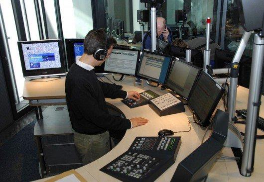 Blick ins Inforadio-Studio. Bild: rbb/Hanna Lippmann