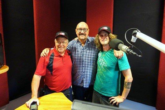 Jim Bartels von KNUJ, Carlheinz Gern und Felix Achberger von DONAU 3 FM. (vlnr-)