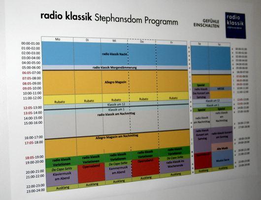 radio klassik Stephansdom-Programmplan  (Bild: Hendrik Leuker-06/15)
