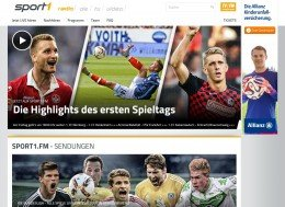 Sport1.fm-Website (Screenshot Quelle: Sport1.fm)