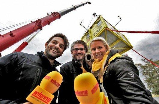 Antenne Steiermark Muntermacher Roland Schmidt, Thomas Axmann und Simone Wallis (Bild: GEPA/Antenne)