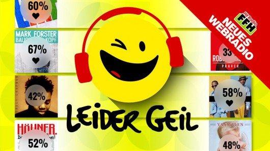 """Homepage des neuen Webradios von FFH: """"Leider geil"""". Quelle: HIT RADIO FFH"""
