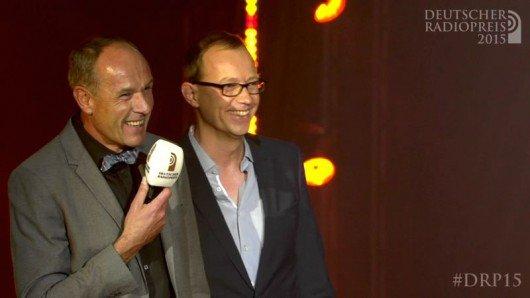 Michael Kohtes und Adrian Winkler vom WDR (Bild: Deutscher Radiopreis)