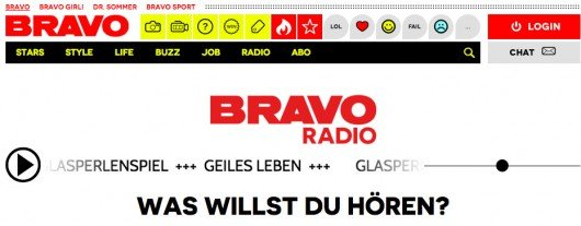Bild: Screenshot BRAVO Radio