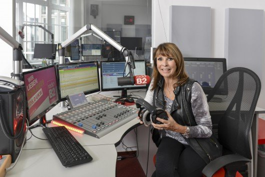 Ireen Sheer im Studio von radio B2. Foto: Sabeth Stickforth