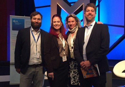 Vor dem Radiogipfel mit Marcel Tuljus (BLM), Julia Schutz (Antenne Thüringen), Carsten Schüerhoff (Bauer Media Group)