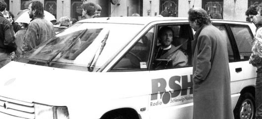 Horst Müller im R.SH-Mobil