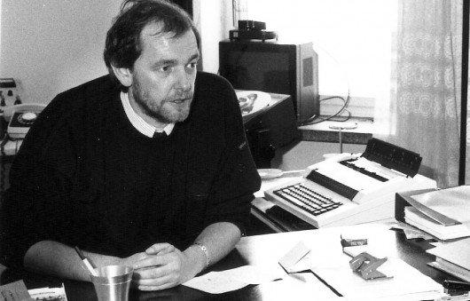 Horst Müller Anfang 1990 im R.SH-Studio in Schwerin