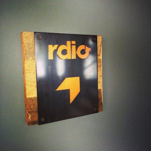Noch das Büroschild von rdio in San Francisco (Bild: Christian Schalt)