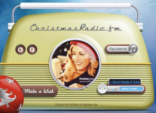 ChristmasRadio.fm (Bild: ChristmasRadio.fm-Homepage)
