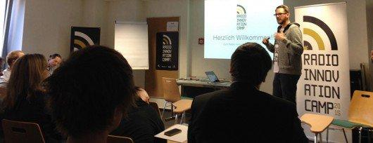 Hannes Mehring auf dem RIC15 (Bild: CrowdRadio)