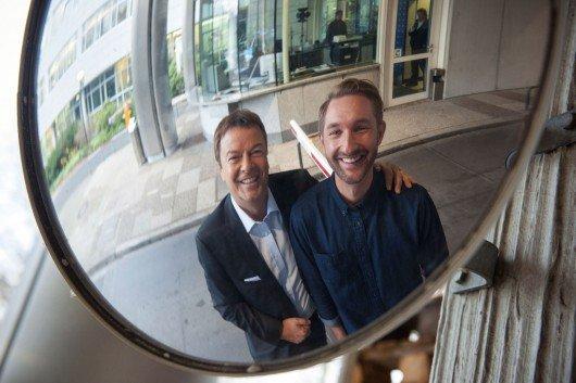 """Die Moderatoren von """"Bombis Nachtwache"""": Jörg Bombach und Daniel Boschmann. Bild: HR/Katrin Denkewitz."""