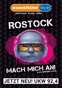 Plakat: sunshine live startet in Rostock