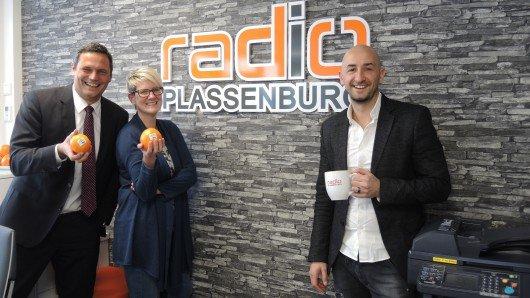 Geschäftsführer Mischa Salzmann, Redaktionsleitung Anke Rieß-Fähnrich, Studioleiter Marco Dreßel (Bild: Radio Plassenburg)