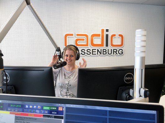 Patricia Wagner im neuen Radio Plassenburg-Studio (Bild: Radio Plassenburg 2016)