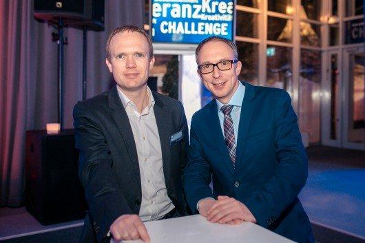 Dr. Christian Wolf (Medienanwalt), Lars Gerdau (Geschäftsführer LandesWelle Thüringen) (Bild: R.SH/Marco Knopp)