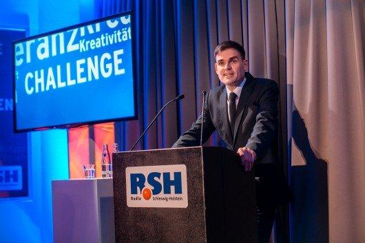 REGIOCAST Geschäftsführer Dirk van Loh auf dem R-SH Jahresempfang 2016 (Bild: R.SH/Marco Knopp)
