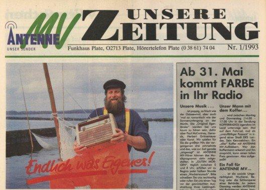 Wenige Tage vor dem Sendestart von Antenne MV am 31. Mai 1993 wurde in ganz Mecklenburg-Vorpommern die erste Ausgabe von unserer Zeitung verbreitet..