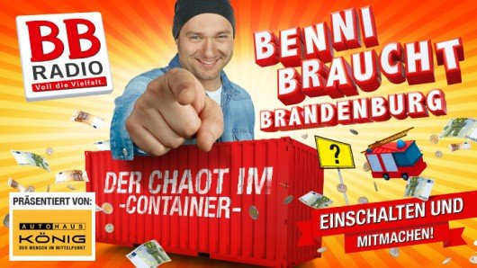 "Aktion ""Benni braucht Brandenburg"". Quelle: BB Radio"
