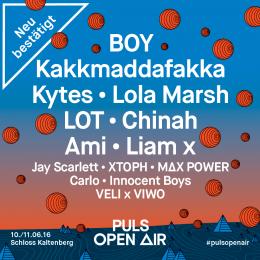 PULS Open Air 2016 - Neue Künstler