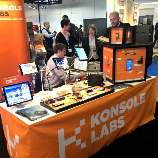 KONSOLE Labs-Messestand auf den Radiodays Europe 2016 (Bild: Thomas Wollert)
