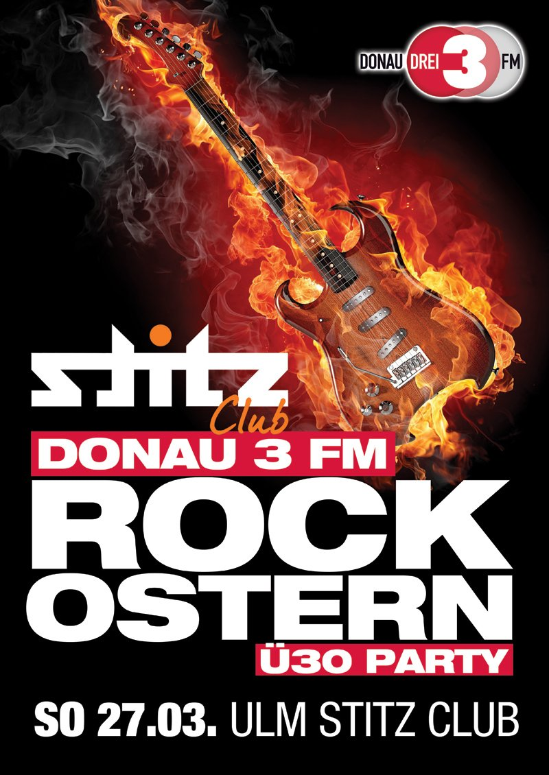 Donau3FM Rock Ostern-Plakat