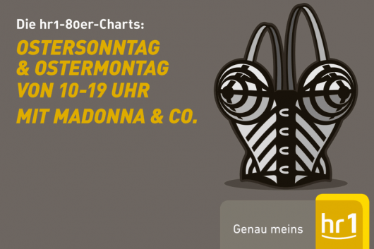 hr1-80er-Top 250-Charts zu Ostern (Bild: hr/Silke Schmoll)