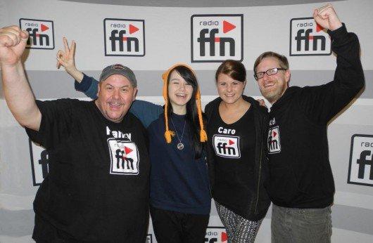 Das ganze Team von ffn drückt ihr die Daumen für den Songcontest (Bild: ffn)