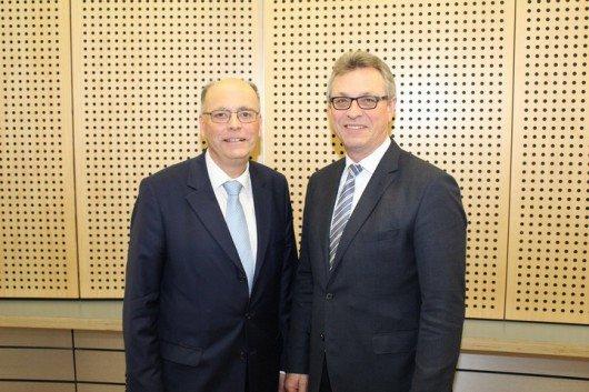 Martin Gebrande und Siegfried Schneider. Foto: BLM