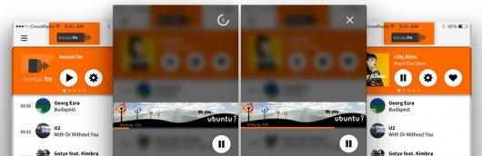 Beispiel für die Umsetzung von Audio+Display Ads in Radio-Apps