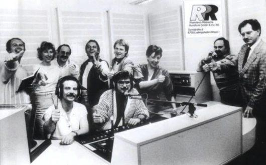 Radio RPR im Jahr 1986: Vorne Bodo Henkel (links) und Arno Müller (Bild: Radio RPR)