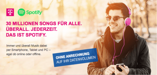 Telekom-Angebot Spotify (Bild: Screenshot t-mobile.de)
