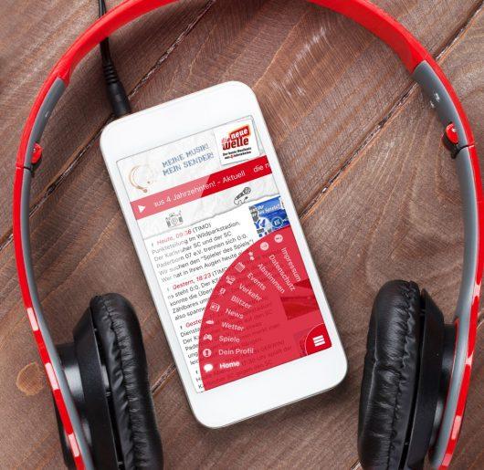 So sieht die neue welle-App aus: (Bild: die neue welle)