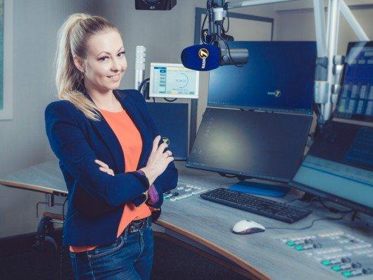 Anastasia Müller im Studio. Foto: Radio 7