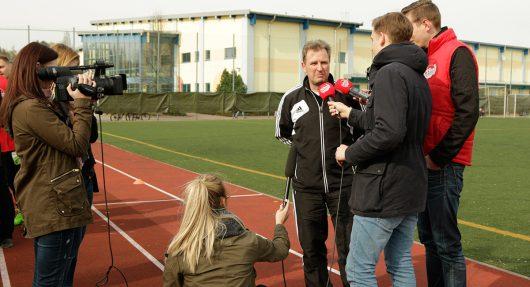 Interview mit Mittweidas Trainer Uwe Schneider (Bild: 99drei Radio Mittweida)