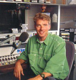 Jörg Pilawa Anfang der 1990er Jahre im Studio von R.SH (Bild: R.SH mit Dank an Martin)
