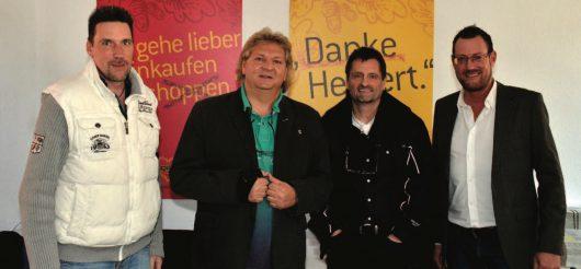 Karsten Zierdt, Matthias Lutz, Heinz Gruss und Tom Hoppe (Bild: DMR-Deutsches-Musik-Radio)