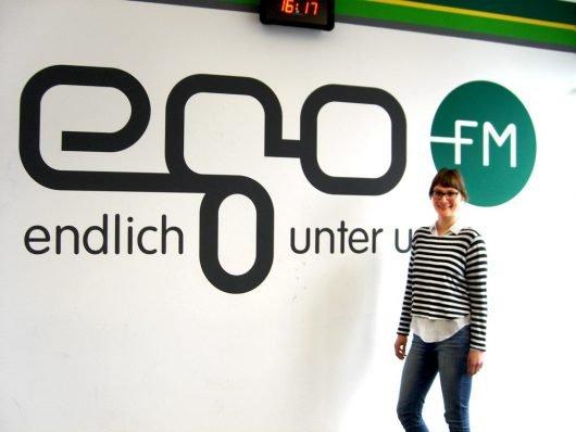 egoFM-Chefin vom Dienst Linda Becker (Bild: Hendrik Leuker)